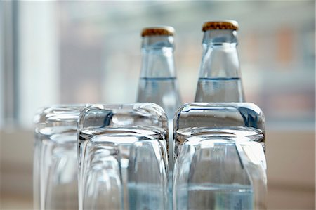 drinking water glass - Glasses and bottles Stock Photo - Premium Royalty-Free, Code: 659-06153724