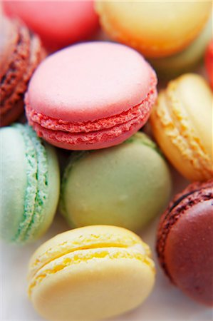 french (places and things) - Coloured macarons Stock Photo - Premium Royalty-Free, Code: 659-06184012