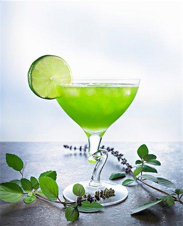 Kiwi margarita with lime Stock Photo - Premium Royalty-Free, Code: 659-06184618