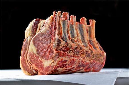rib - Fore rib of beef (raw) Stock Photo - Premium Royalty-Free, Code: 659-06185366