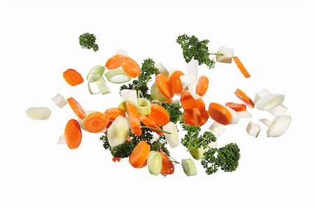 Soup vegetables with parsley Stock Photo - Premium Royalty-Free, Code: 659-06187146