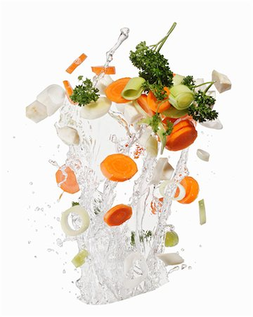 Soup vegetables with a water splash Stock Photo - Premium Royalty-Free, Code: 659-06187147