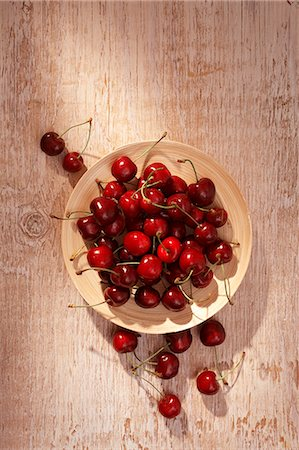 A plate of cherries Stock Photo - Premium Royalty-Free, Code: 659-06187256