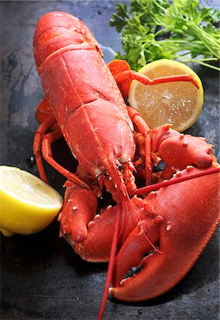 Cooked lobster with lemon Stock Photo - Premium Royalty-Free, Code: 659-06187384