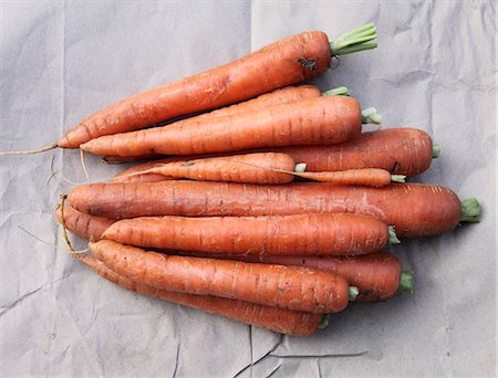 Organic carrots (seen from above) Stock Photo - Premium Royalty-Free, Code: 659-06187528