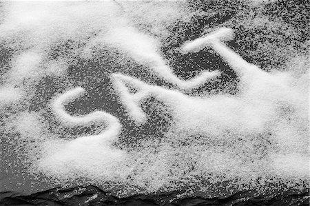 salt - The word SALT written in salt Stock Photo - Premium Royalty-Free, Code: 659-06188377