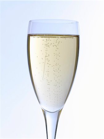 sparkling - A glass of champagne Stock Photo - Premium Royalty-Free, Code: 659-06188485