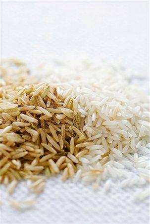 Brown and white basmati rice Stock Photo - Premium Royalty-Free, Code: 659-06306291