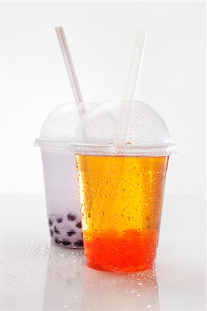 Bubble tea in plastic cups Stock Photo - Premium Royalty-Free, Code: 659-06306620