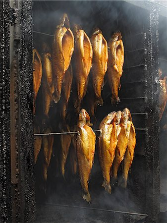smoked - Trout being smoked Stock Photo - Premium Royalty-Free, Code: 659-06307351