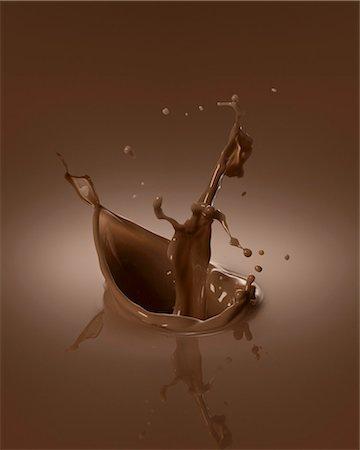 effect - Chocolate splash Stock Photo - Premium Royalty-Free, Code: 659-06307747