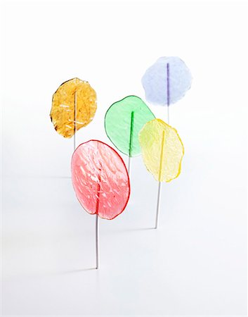 Homemade coloured lollies Stock Photo - Premium Royalty-Free, Code: 659-06372345