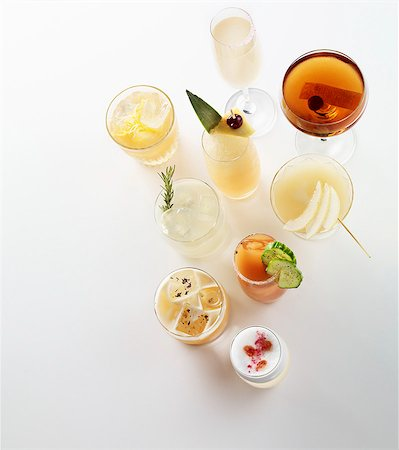 Various summer cocktails Stock Photo - Premium Royalty-Free, Code: 659-06372367
