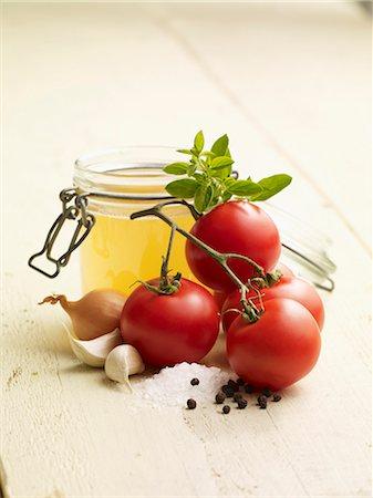 salt - Ingredients for tomato soup Stock Photo - Premium Royalty-Free, Code: 659-06372739