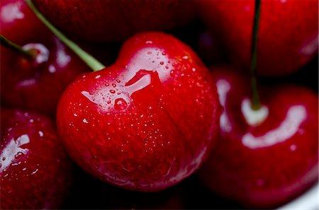 Close Up of Red Cherries Stock Photo - Premium Royalty-Free, Code: 659-06373113