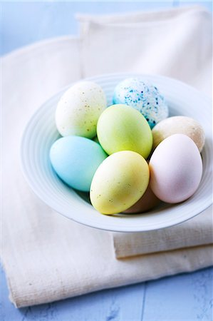 dyed - Pastel-coloured Easter eggs Stock Photo - Premium Royalty-Free, Code: 659-06373157
