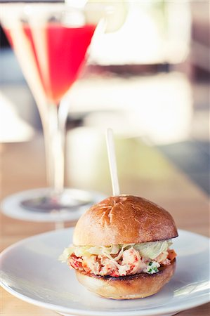 Lobster Sandwich Slider on a Roll Stock Photo - Premium Royalty-Free, Code: 659-06373282