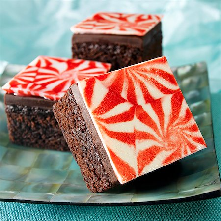 rectangle - Chocolate Peppermint Brownies Stock Photo - Premium Royalty-Free, Code: 659-06373404