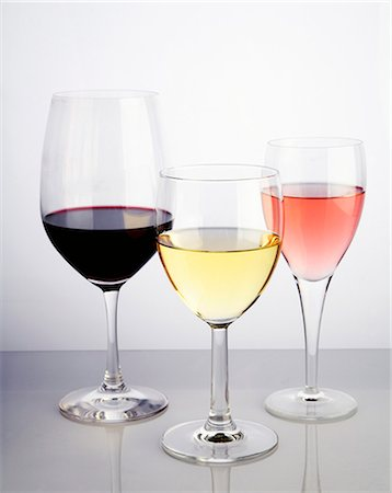 Red, White and White Zinfandel Stock Photo - Premium Royalty-Free, Code: 659-06495699