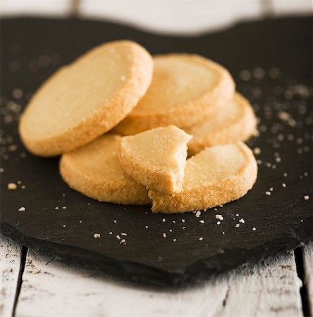 slate - Shortbread biscuits on a slate surface Stock Photo - Premium Royalty-Free, Code: 659-06671000