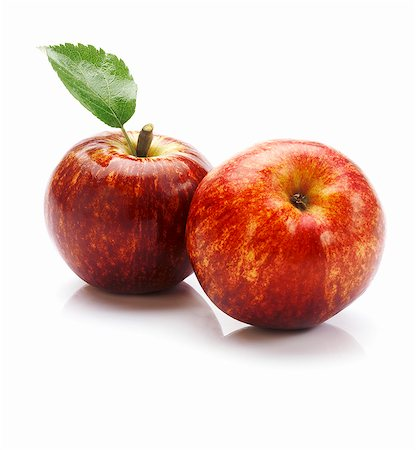 Two apples of the variety 'Red Delicious' Stock Photo - Premium Royalty-Free, Code: 659-06671619