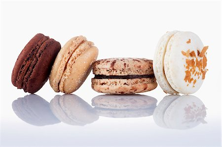 sweet - Four different macaroons Stock Photo - Premium Royalty-Free, Code: 659-06900759