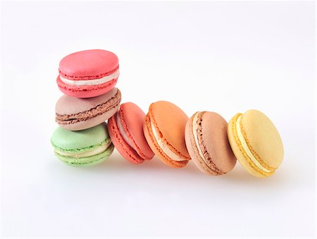 sweet - Colourful almond macaroons Stock Photo - Premium Royalty-Free, Code: 659-06901576