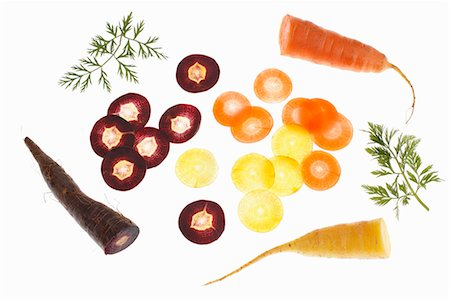 Still life with colorful carrots Stock Photo - Premium Royalty-Free, Code: 659-06902217