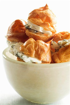 puff - Cream puffs with Roquefort Stock Photo - Premium Royalty-Free, Code: 659-06902389