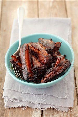 rib - Roasted pork ribs Stock Photo - Premium Royalty-Free, Code: 659-06902467