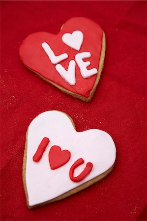 Heart cookies for your Sweetheart Stock Photo - Premium Royalty-Free, Code: 659-06902515