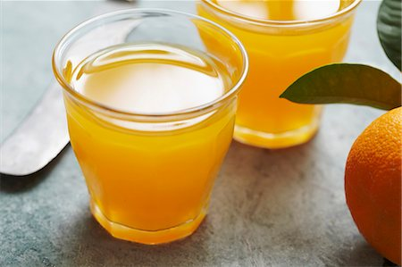 drink (non-alcohol) - Fresh orange juice in a glass Stock Photo - Premium Royalty-Free, Code: 659-06902705
