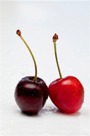 pair - Pair of cherries Stock Photo - Premium Royalty-Free, Code: 659-06903775