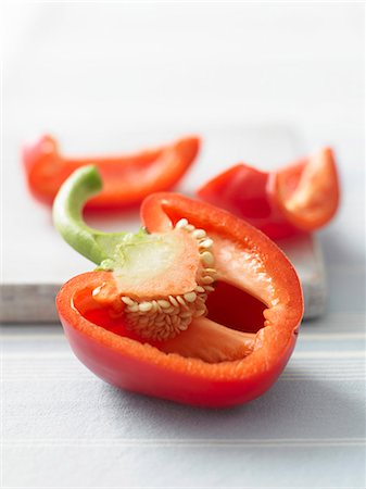 paprika - A red pepper, sliced open Stock Photo - Premium Royalty-Free, Code: 659-07026912