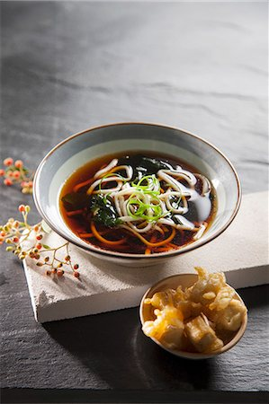 Noodle soup with tofu tempura (Japan) Stock Photo - Premium Royalty-Free, Code: 659-07027464