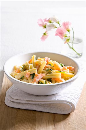 recipe - Pasta with salmon Stock Photo - Premium Royalty-Free, Code: 659-07027469
