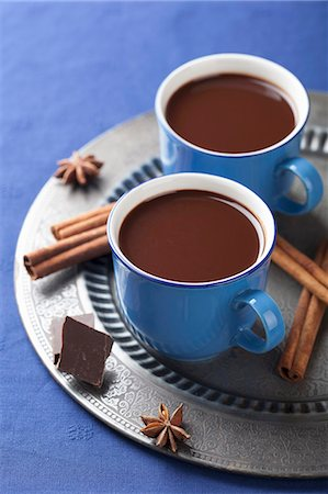 spicy - Hot chocolate with spices Stock Photo - Premium Royalty-Free, Code: 659-07027966