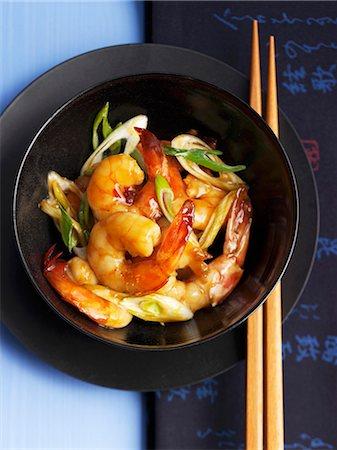 Wok-fried prawns Stock Photo - Premium Royalty-Free, Code: 659-07028310