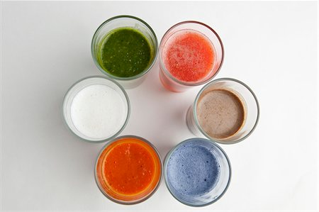 different - Assorted smoothies Stock Photo - Premium Royalty-Free, Code: 659-07068567