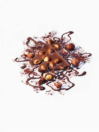 sweets - Hazelnut chocolate Stock Photo - Premium Royalty-Free, Code: 659-07068615