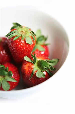 strawberries - Fresh strawberries in a bowl Stock Photo - Premium Royalty-Free, Code: 659-07069730