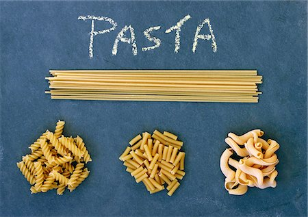 slate - Various types of pasta Stock Photo - Premium Royalty-Free, Code: 659-07739057