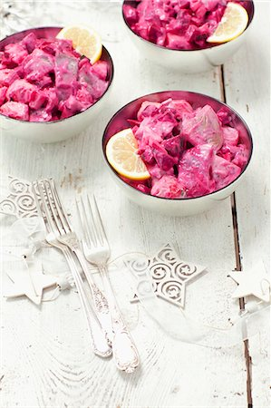 Herring salad with beetroot Stock Photo - Premium Royalty-Free, Code: 659-07959577