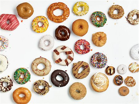 different - A selection of doughnuts Stock Photo - Premium Royalty-Free, Code: 659-07959725