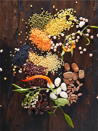 still life - Assorted pulses Stock Photo - Premium Royalty-Free, Code: 659-07959795