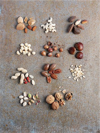 still life - Assorted nuts Stock Photo - Premium Royalty-Free, Code: 659-07959836
