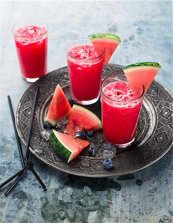 drink (non-alcohol) - Watermelon smoothies Stock Photo - Premium Royalty-Free, Code: 659-08419670