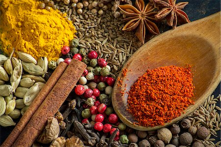pimento - Various spices (close-up) Stock Photo - Premium Royalty-Free, Code: 659-08419707
