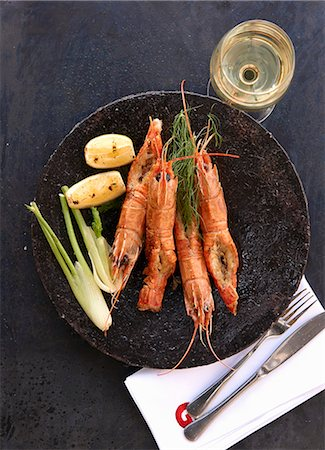 food - Langoustines with fennel and potatoes Stock Photo - Premium Royalty-Free, Code: 659-08420105
