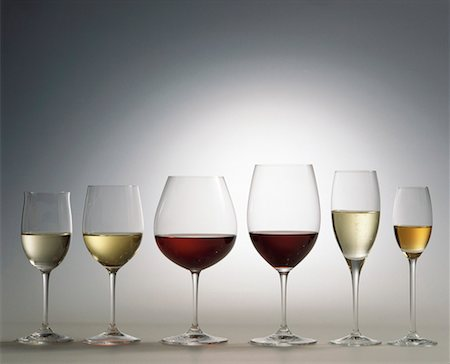 Various types of wine in glasses Stock Photo - Premium Royalty-Free, Code: 659-01850074